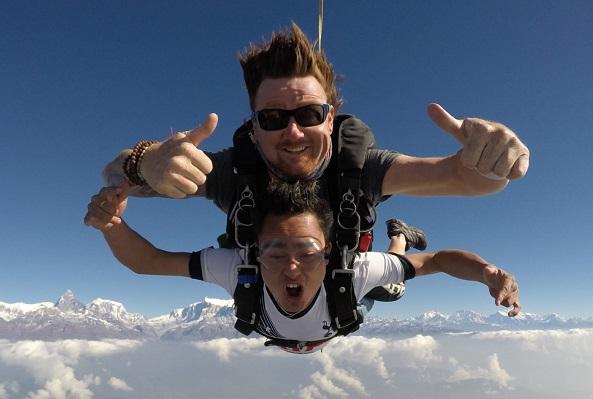 skydiving exhim adventure nepal