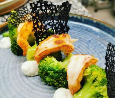 gamberi e broccoli