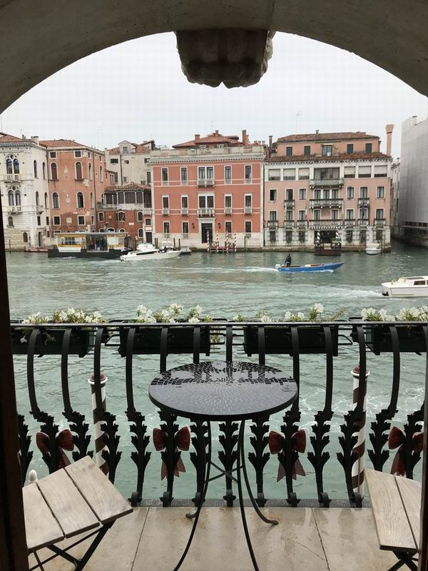 La vista sul Canal Grande da Palazzo Barbarigo Hotel a Venezia