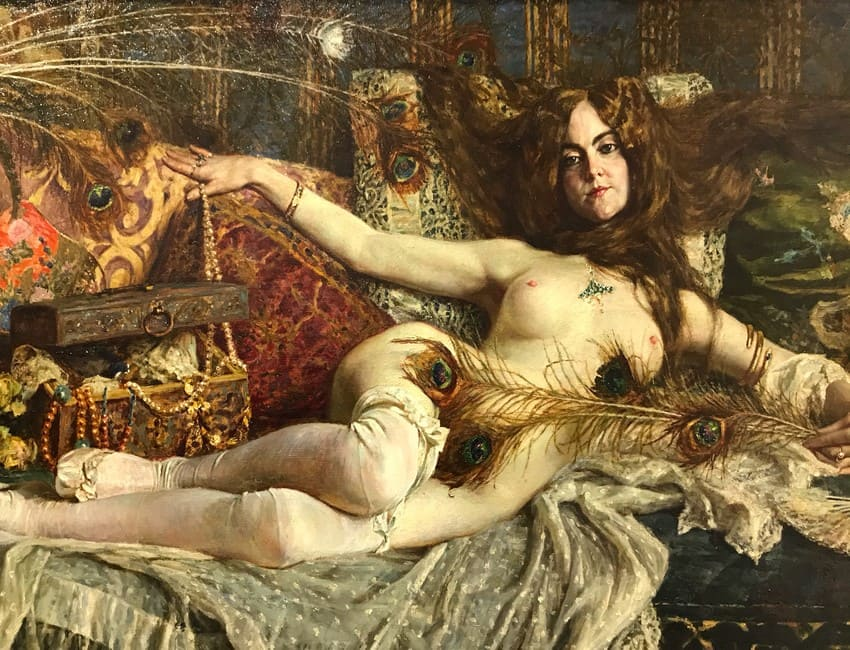 Sezione Nudi mostra Donne nell'arte Brescia