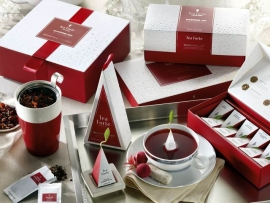 "CON TEA FORTÉ MISCELE RAFFINATE E UN DESIGN ELEGANTE E FESTIVO PER LA NUOVA COLLECTION ""WARMING JOY 2019"""